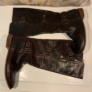 GORGEOUS DEEP CHOCOLATE FRYE BUCKLE BOOTS SIZE 7B